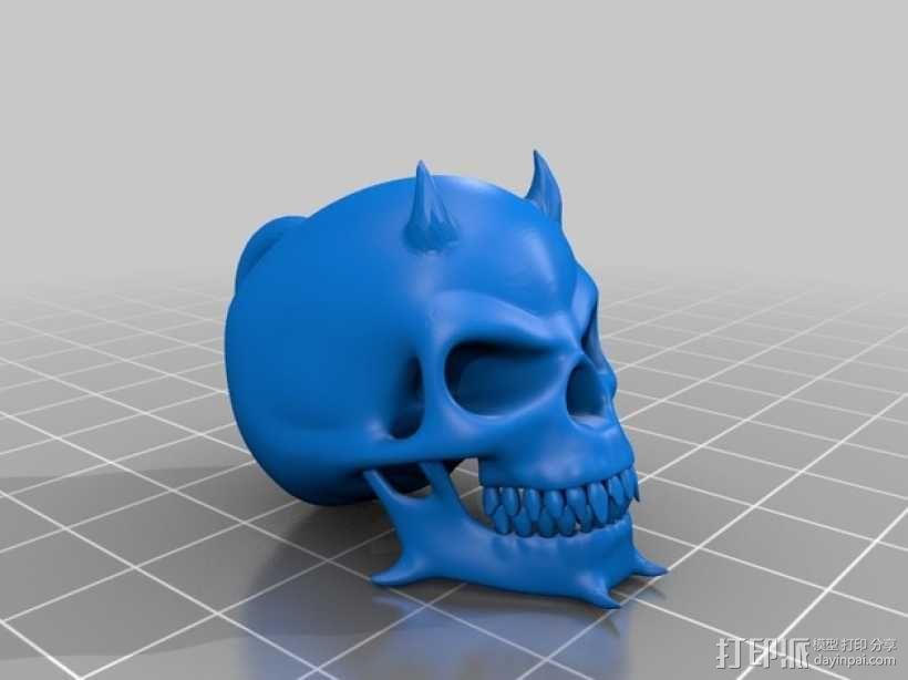 魔鬼骷髅头钥匙坠 3D模型  图2
