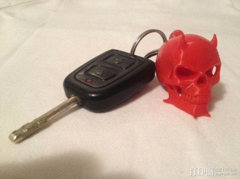 魔鬼骷髅头钥匙坠 3D模型  图4