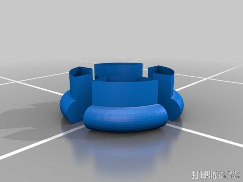 子母扣 按扣 3D模型  图4