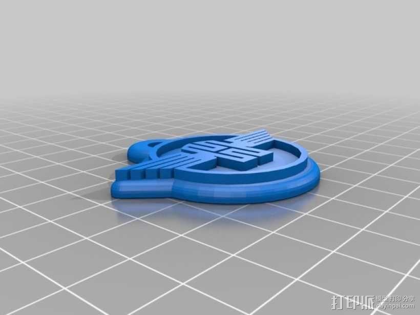 拖拉机 钥匙坠 3D模型  图2