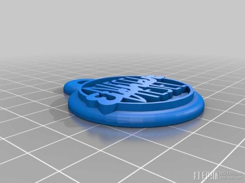 拖拉机 钥匙坠 3D模型  图3