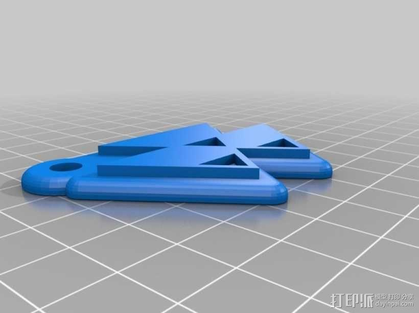 拖拉机 钥匙坠 3D模型  图6