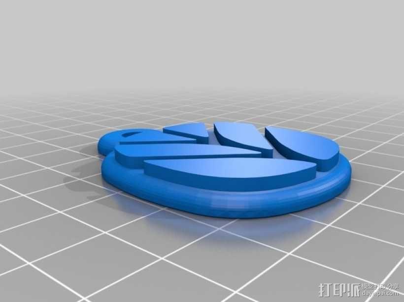 拖拉机 钥匙坠 3D模型  图5