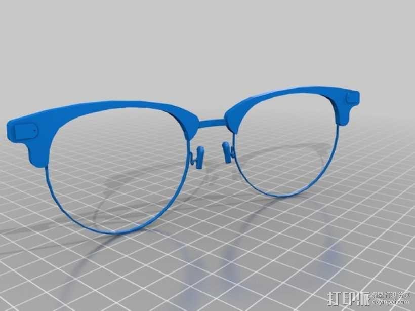 雷朋Ray-Ban太阳眼镜 3D模型  图2