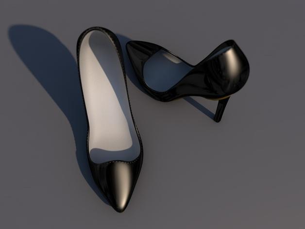 Pigalle高跟鞋 3D模型  图3