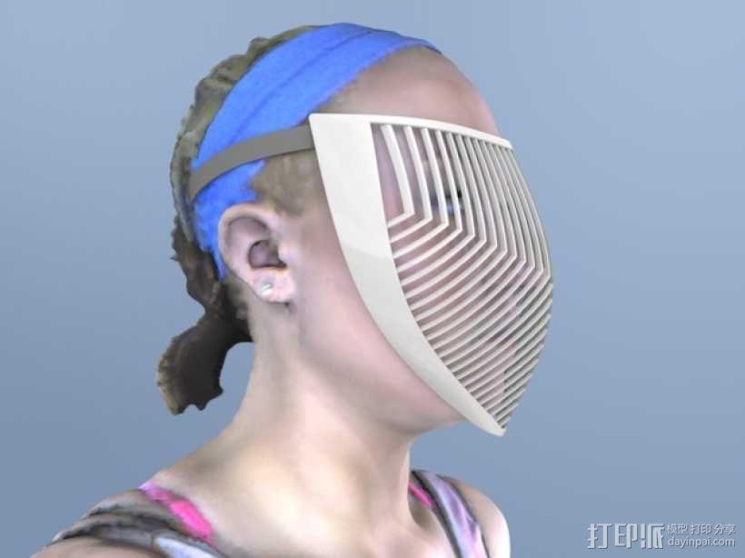 骑士面具 3D模型  图1