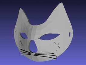 猫咪 舞会面具 3D模型