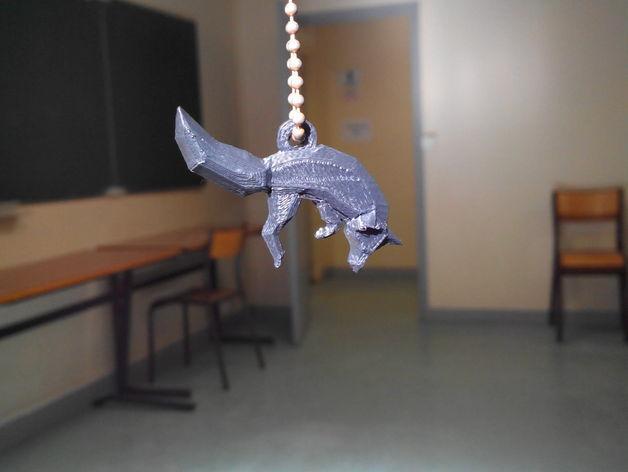 低面数 狐狸吊坠 3D模型  图4