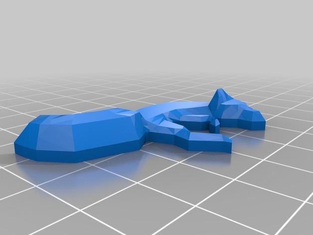 低面数 狐狸吊坠 3D模型  图2