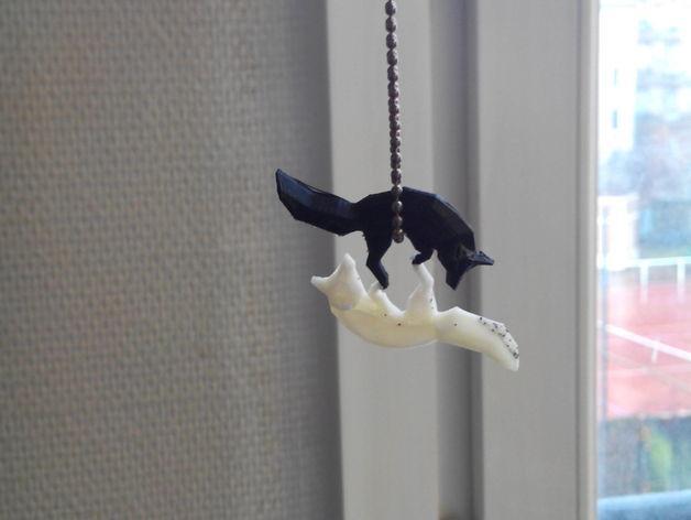 低面数 狐狸吊坠 3D模型  图5