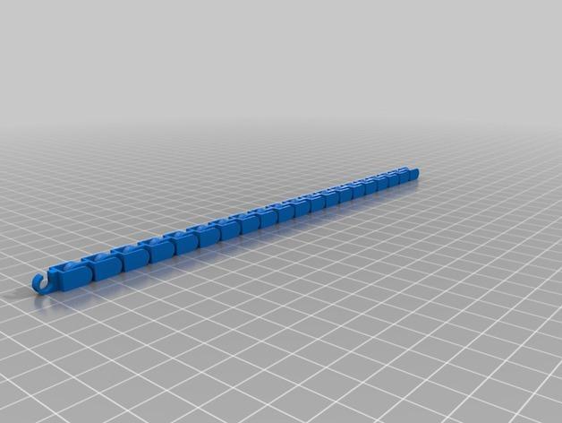 扣齿链手镯 3D模型  图2
