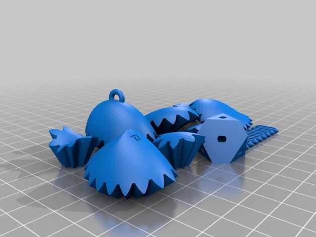 齿轮心 钥匙坠 3D模型  图2