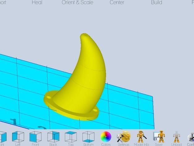 Karkat Vantas的角 3D模型  图4