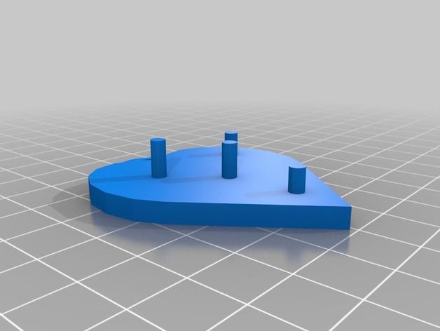 齿轮心形吊坠 3D模型  图4