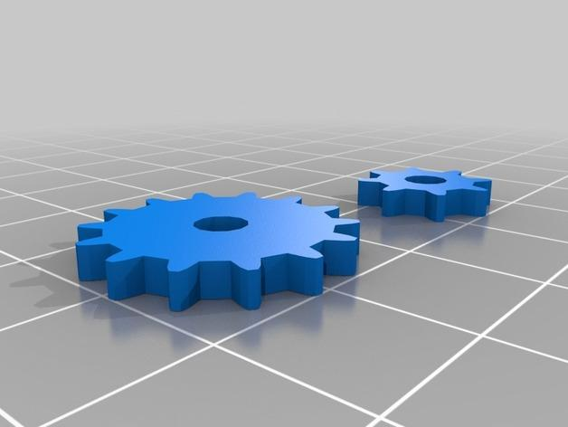 齿轮心形吊坠 3D模型  图6