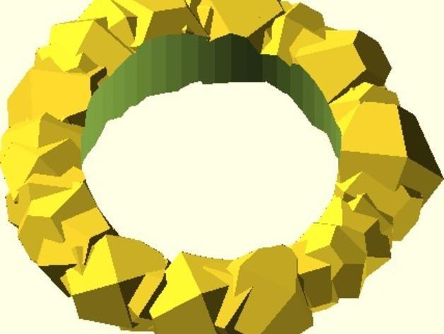 Chunky戒指 3D模型  图2