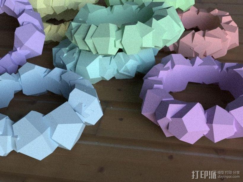 Chunky戒指 3D模型  图1
