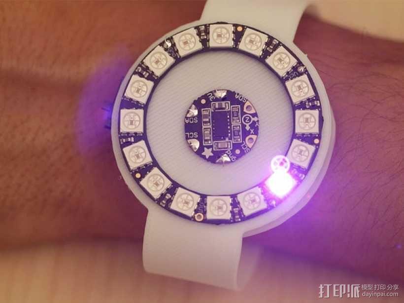 动作感应 发光手表腕带 3D模型  图1