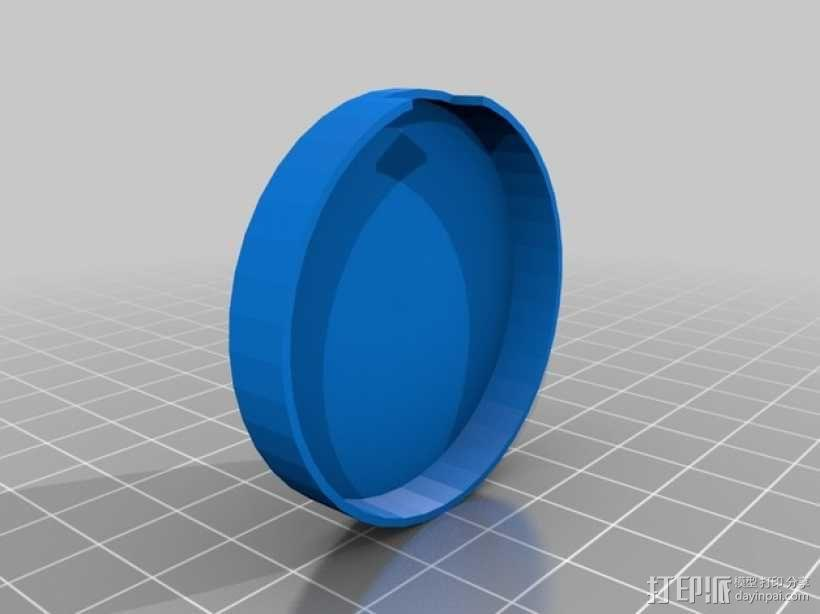 动作感应 发光手表腕带 3D模型  图3