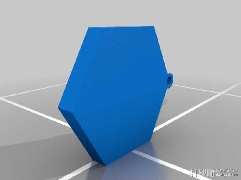 Ingress 徽章钥匙坠 3D模型  图1