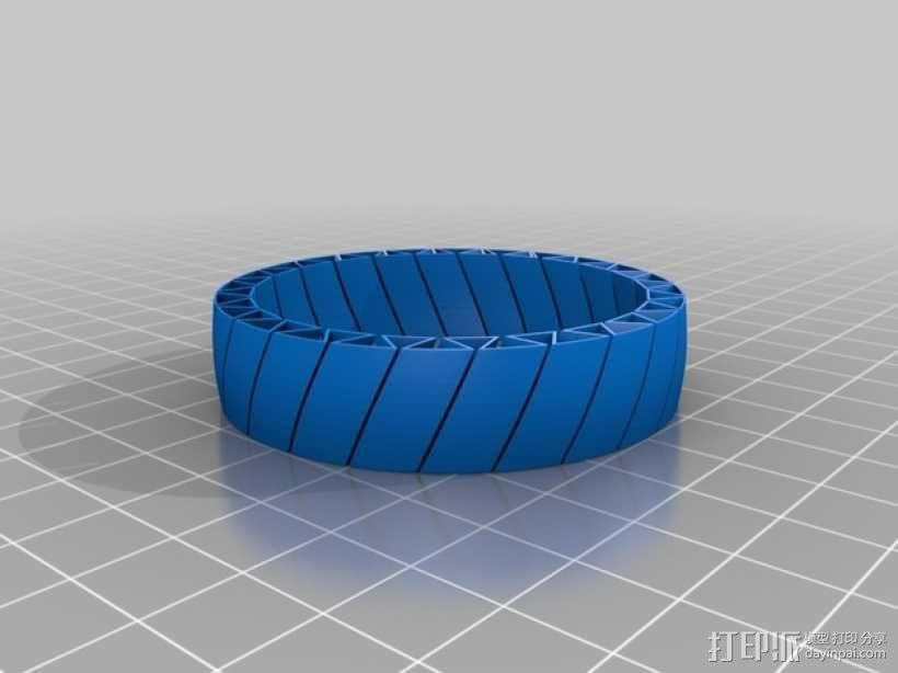 弹性手镯 3D模型  图2