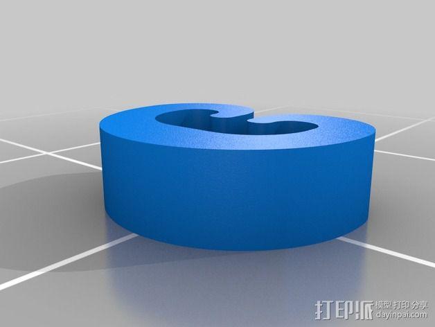 C形夹子 3D模型  图2