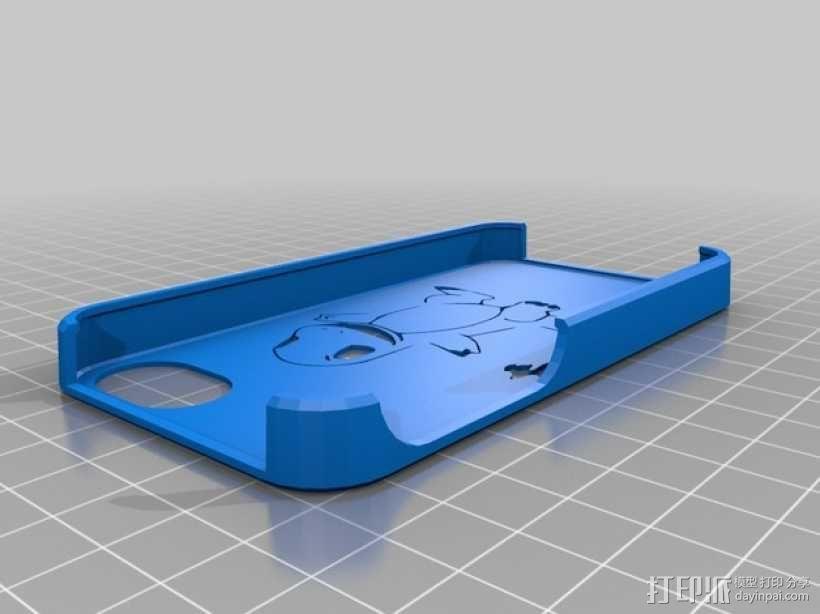 小火龙 iPhone 4手机套 3D模型  图1