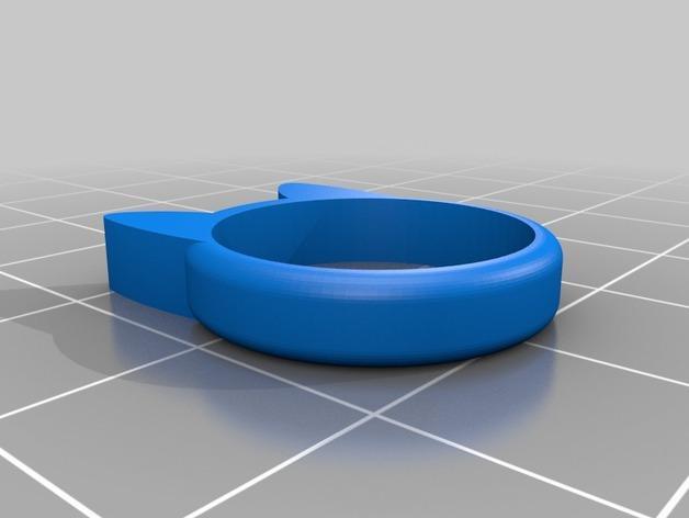 小猫 戒指 3D模型  图3