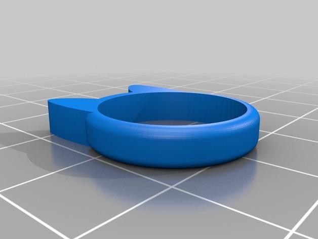 小猫 戒指 3D模型  图4
