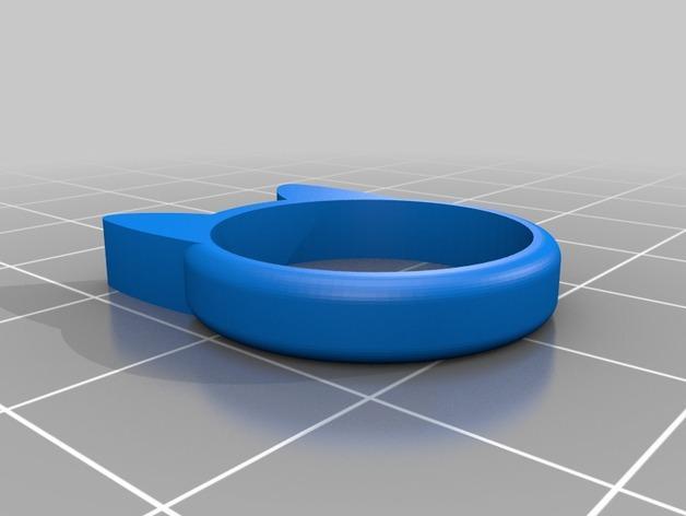 小猫 戒指 3D模型  图5