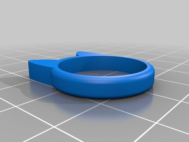 小猫 戒指 3D模型  图7