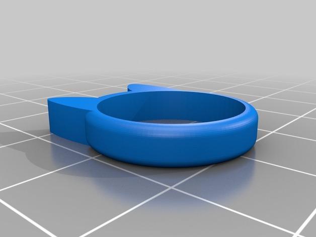 小猫 戒指 3D模型  图8