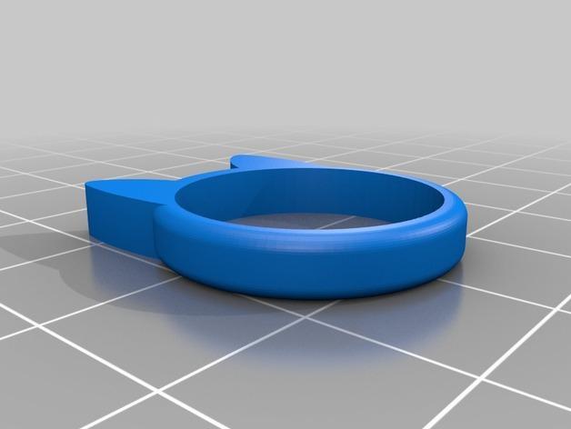 小猫 戒指 3D模型  图9