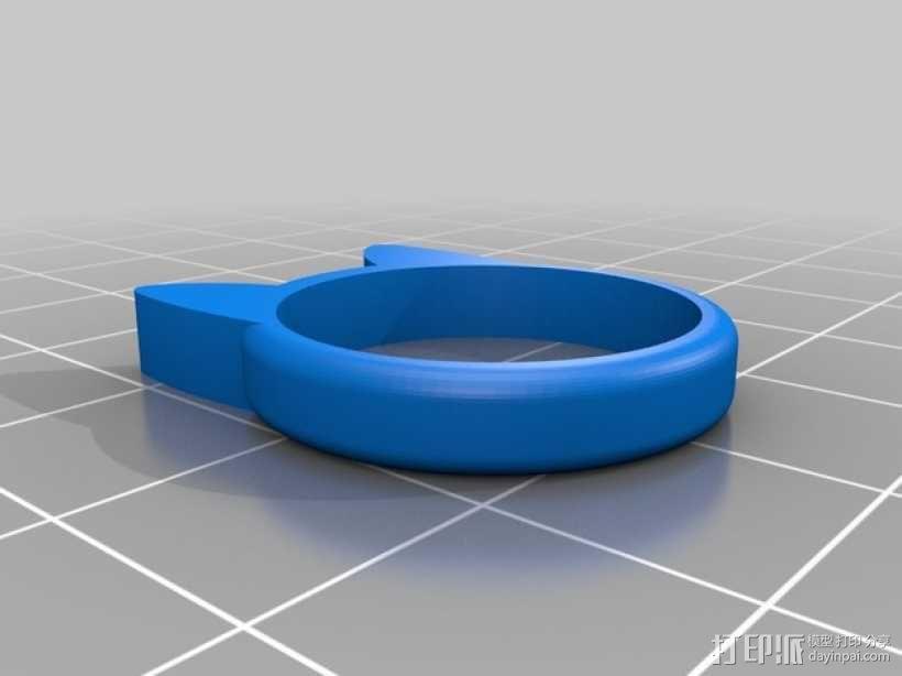 小猫 戒指 3D模型  图12