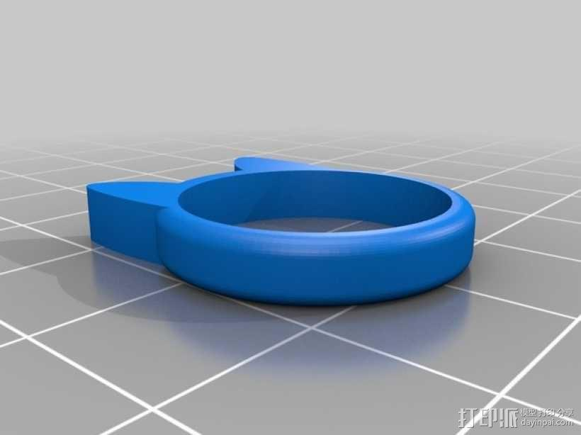 小猫 戒指 3D模型  图10