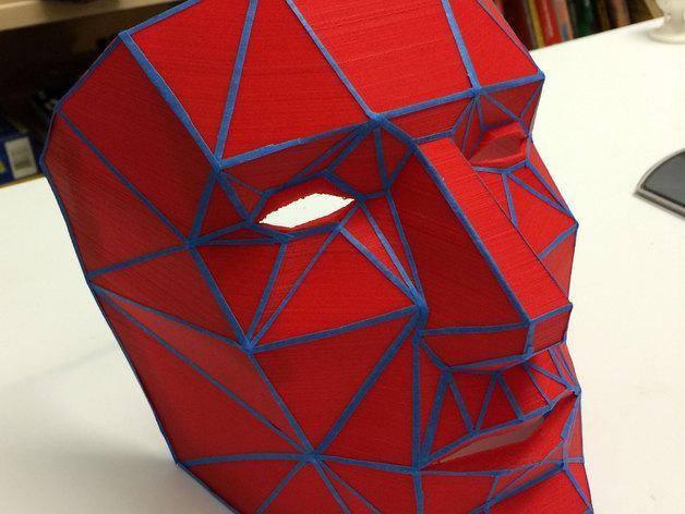 低面数面具 3D模型  图1
