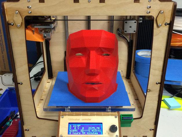 低面数面具 3D模型  图2