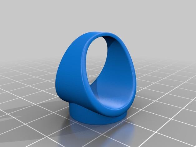 红白黑黄 指环 3D模型  图3