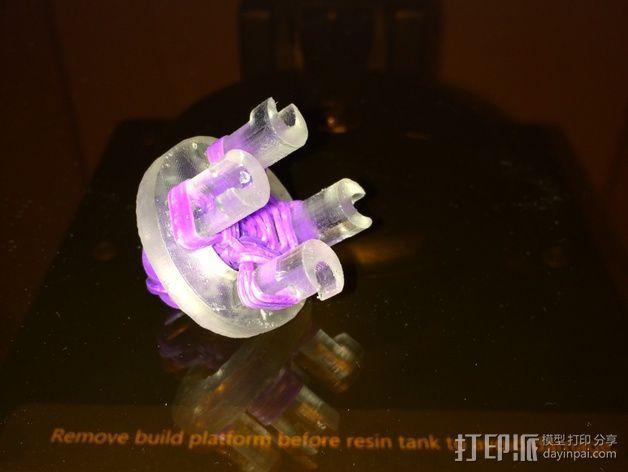 圆形手链编织器 3D模型  图1
