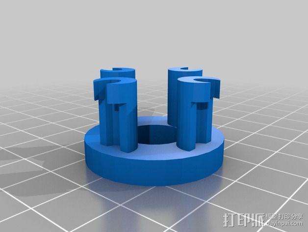 圆形手链编织器 3D模型  图2