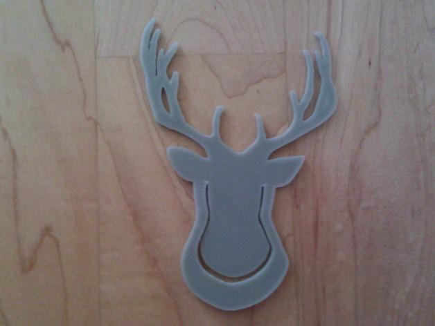 鹿头夹子 3D模型  图3