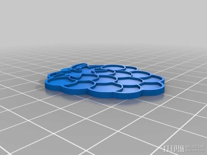 树莓 坠饰 3D模型  图3