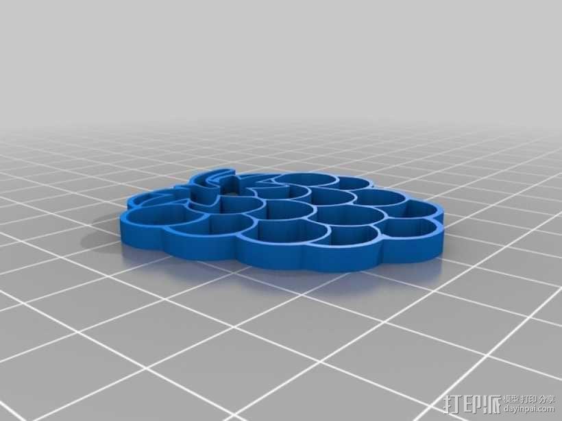 树莓 坠饰 3D模型  图4
