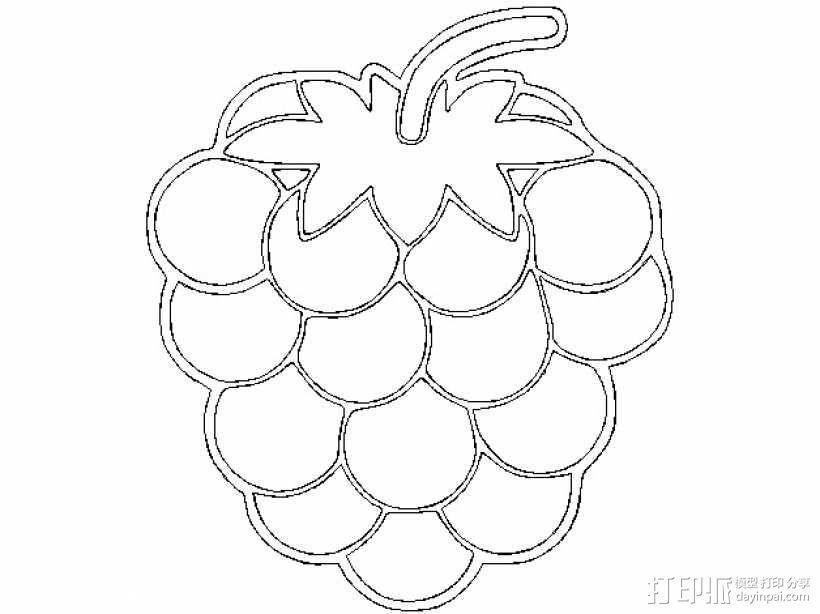 树莓 坠饰 3D模型  图6