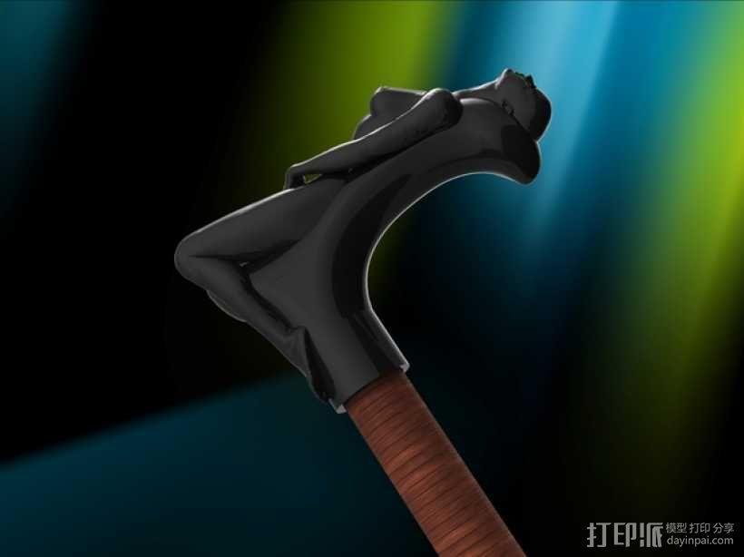 拐杖手柄 3D模型  图2