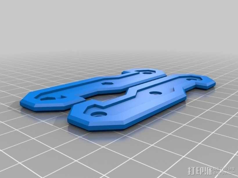 瑞士军刀钥匙架 3D模型  图1