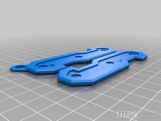 瑞士军刀钥匙架 3D模型  图2