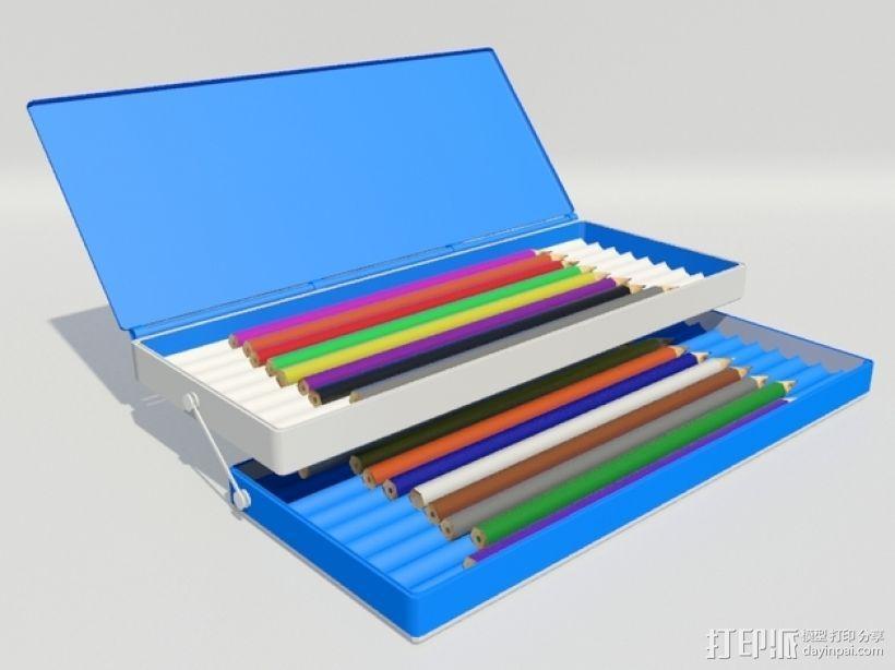 3D打印 铅笔套 铅笔盒 尺子 3D模型  图1