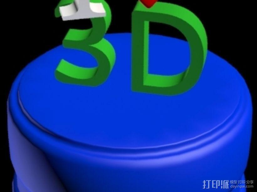 3D打印 铅笔套 铅笔盒 尺子 3D模型  图2