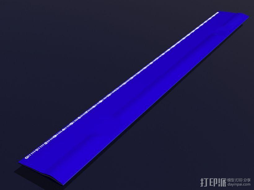 3D打印 铅笔套 铅笔盒 尺子 3D模型  图3